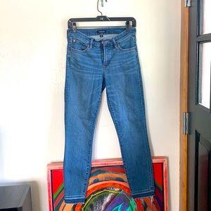 J crew skinny jeans with raw hem